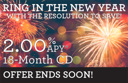 Earn 2% for 18 months with a Community 1st CD Special